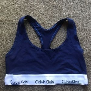 Navy blue Calvin Klein bra
